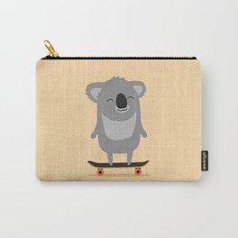 Cute cartoon koala skateboarding Carry-All Pouch