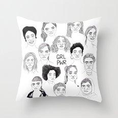 GRL PWR 2 Throw Pillow