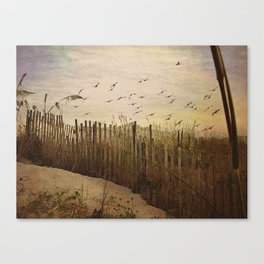 Over the Dunes Painterly Canvas Print