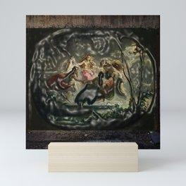Women dancing in the dark - surrealism pop art - Jéanpaul Ferro Mini Art Print