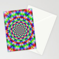 Red Green and Blue Rosette Stationery Cards