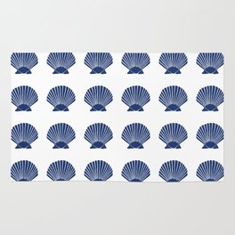 Navy Seashell Rug