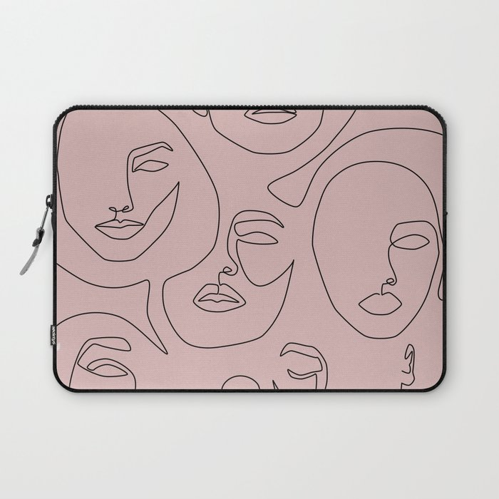 Blush Faces Laptop Sleeve