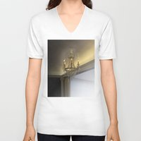 chandelier V-neck T-shirts featuring Crystal chandelier by jazzmonkey