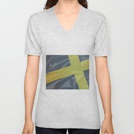 Silk Flag of Saint David Unisex V-Neck