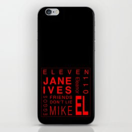 Eleven:Stranger Things iPhone Skin