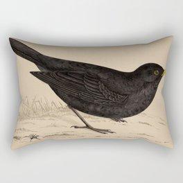 Naturalist Blackbird Rectangular Pillow