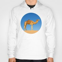 camel Hoodies featuring Camel by Chantal Seigneurgens