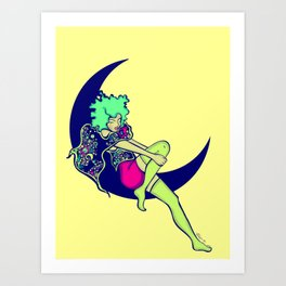 The Moon & I  Art Print
