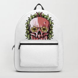 Skull and flowers Backpack