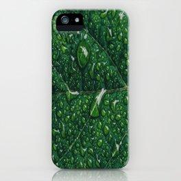leaf dew drops iPhone Case