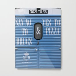 Italian pizza , french truck , east London ! Metal Print