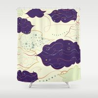 celestial Shower Curtains featuring Celestial by Grace Anne