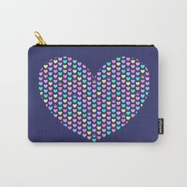 Pastel Rebel Hearts, Rebel Alliance, Rebel Scum, Rogue One on Blue Big Heart Carry-All Pouch