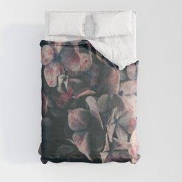 Hydrangea Flowers - Moody Blues Comforters