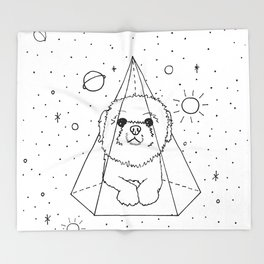 Shih Tzu Galaxy Throw Blanket