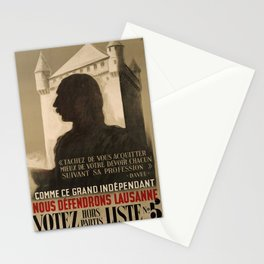 retro classic comme ce grand independant nous defendrons lausanne votez hors partis liste poster Stationery Cards