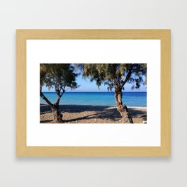 The Perfect Greek Beach Framed Art Print