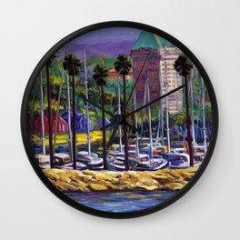 Long Beach Rivera  Wall Clock