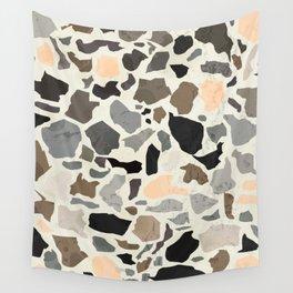 Terrazzo / Poster, scandinavian, art, art print, drawings, paintings, illustration, marble, pastel, Wall Tapestry