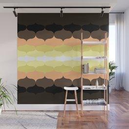 Retro 70s Pattern Mushroom colors Wall Mural