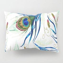 Bold Wispy Peacock Pillow Sham