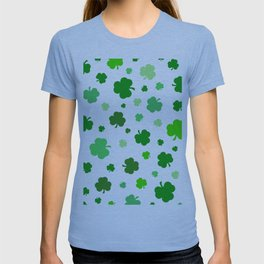 Green Shamrock Pattern T-shirt