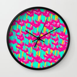 Pink March Wall Clock