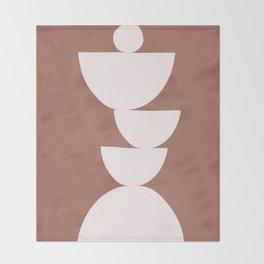 Abstract Balancing Shapes I Throw Blanket