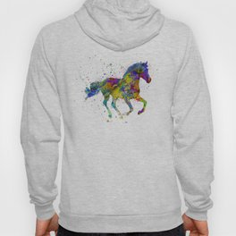 horse with multicolored fantasy Hoody
