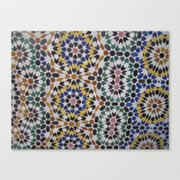 morrocan Canvas Prints featuring Morrocan Tile by Tyler Frees