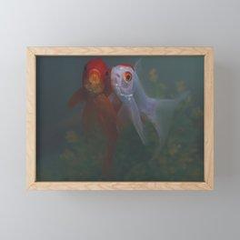 Two Goldfish Framed Mini Art Print