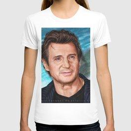 Liam Neeson's portrait T-shirt