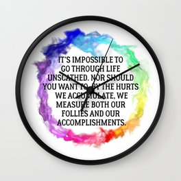 Our Follies and Accomplishments Wall Clock