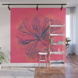 Siamese Fighting Fish - Intricate Line Drawing Wall Mural