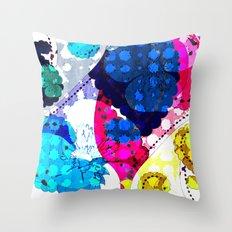 Paisley Pansie Throw Pillow