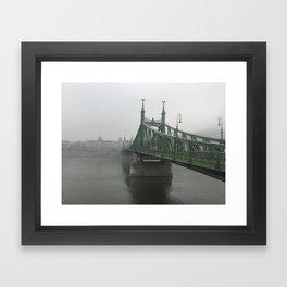 Winter Fog in Budapest Framed Art Print