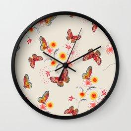 India Floral Wall Clock