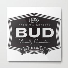 Herb brand Bud Metal Print