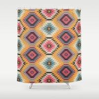 navajo Shower Curtains featuring Navajo Dreams by Bohemian Gypsy Jane