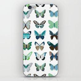 Green and Blue Butterflies iPhone Skin