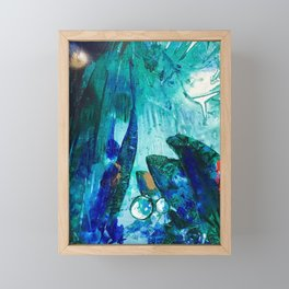 Bright Ocean Spaces, Tiny World Collection Framed Mini Art Print