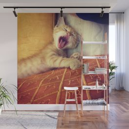 Le Chat Rouge - Yawn Wall Mural