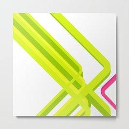 Green Corners Metal Print