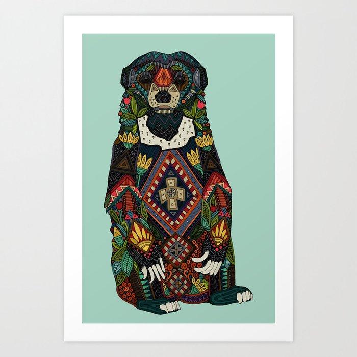 sun bear mint Art Print