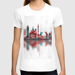 St. Petersburg Russia Skyline T-shirt