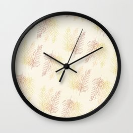 Red Ferns All Over Wall Clock