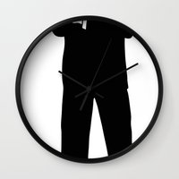 storm trooper Wall Clocks featuring Trooper... Storm Trooper 5 by Derek Donovan