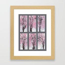 Grid Series No.2 Cherry Blossoms Framed Art Print