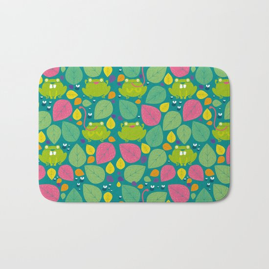 Frogs pattern Bath Mat